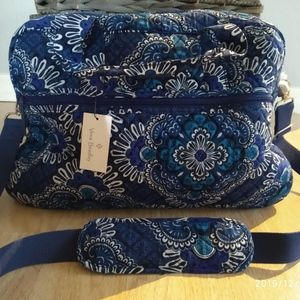 Vera Bradley Blue Tapestry Medium Traveler bag